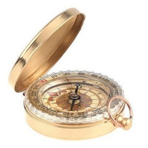 Toch Camping Hiking Portable Pocket Watch Flip-Open Compass Outdoor Navigation Tools - Gold