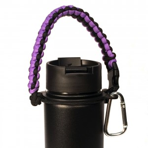 Gearproz Best Hydro Flask Handle - Paracord Survival Strap - Also Fits Nalgene, Nathan and Most Wide Mouth