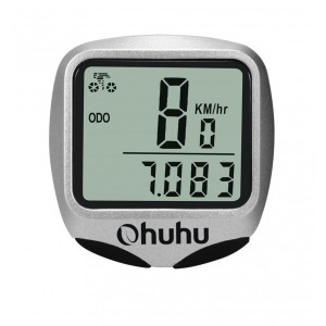 Ohuhu Wireless Bike Computer Odometer Speedometer with LCD Backlight for Cycling