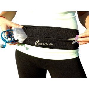 iSports Fit Running Belt - Waist Pack With Keyholder Clip, Fits iPhone 6 Plus and Workout Accessories