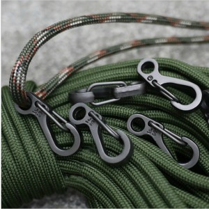 SZHOWORLD 10PCS/LOT Mini SF Spring Backpack Clasps Climbing Carabiners EDC Keychain Camping Bottle Hooks Paracord Tactical Survival Gear