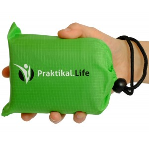 Praktikal Life Compact Picnic, Beach, Outdoor Blanket (66'' x 55'') Made From Premium Soft and Lightweight Waterp