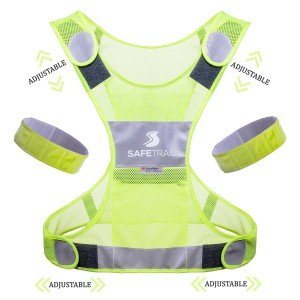 SAFETRAIL Reflective Vest, Safety Vest, Reflective Running Gear, Reflective Running Vest, 3m Scotchlite Safe