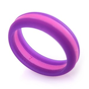 RINGOOL Womens Silicone Wedding Ring Band - 4 Designed Rings Set (sizes: 5,6,7 and 8) in a Gift Box. No Si