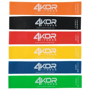 "4 KOR Fitness [#1 Rated Resistance Bands] Set of 6 Fitness Bands (12"" x 2"") for All Strength Levels - Perfect"