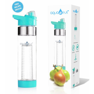 Aquafrut Bottle NEW COLORS! AquaFrut Best Bottom Loading Fruit Infuser Water Bottle - BPA Free Tritan Plastic- Lea