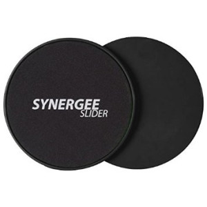 iheartsynergee Synergee Black Gliding Discs Core Sliders. Dual Sided Use on Carpet or Hardwood Floors. Abdominal