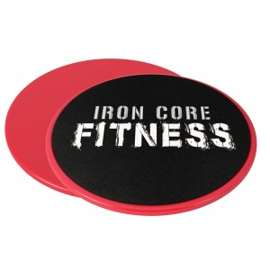 2 x Dual Sided Gliding Discs Core Sliders by Iron Core Fitness   Ultimate Core Trainer   Gym, Home Abdominal and Total Body Workout Equipment   For use on ALL surfaces
