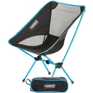 ONWEGO Ultralight Camping and Outdoor Chair - Lightweight, Premium Quality Aluminum Construction, Heavy Duty - Portable, Folding, Convenient