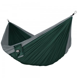 Fox Outfitters Alpha Double Camping Hammock - Lightweight Portable Rip Stop Nylon Parachute Hammock for Backpacki