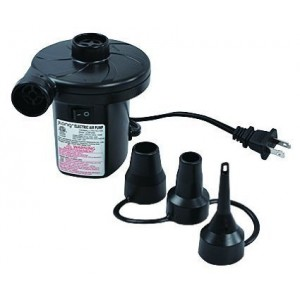 VmargeraPortable Electric Air Pump for Inflatables - 120 Volt Ac Quick-fill Design with Three Nozzles