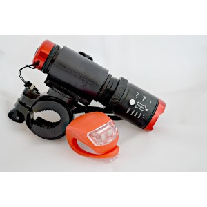 SMHeiner Bike Light / FREE Tail Light Combo - Tool Free Installation - Ultra Bright - Focusing Capability -