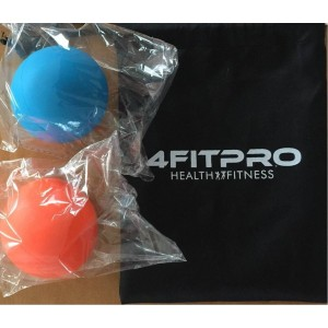 4FITPRO Lacrosse Balls - Myofascial, Foot and Deep Tissue Massage, Therapeutic, Trigger Point, Set of 1 Or