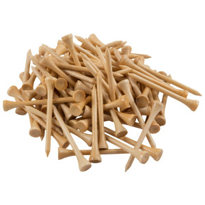 Wedge Guys Bamboo Golf Tees 2-3/4 Inch (1000 Count Bulk Bag) Virtually Unbreakable - 7x Stronger Than Wood Te