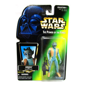 Star Wars Power of the Force Green Holofoil Card Greedo Action Figure