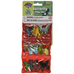 Wild Republic Triple Mini Butterfly Polybag Play Set Insect Figurines Toy