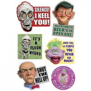 Jeff Dunham's Famous Puppets Refrigerator Magnets (Set of 6) - Achmed, Walter