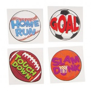 Shindigz Assorted Sports Tattoos Package of 144