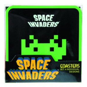 50 Fifty 50Fifty Space Invaders Coasters Set, 4-Piece