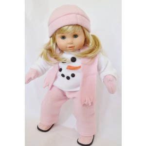 DollsHobbiesNmore SNOWSUIT FOR BITTY TWINS GIRL COMPLETE WITH HAT, SCARF, MITTENS AND BOOTS!