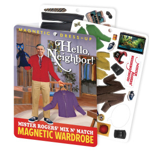 The Unemployed Philosophers Guild Hello Neighbor! Mister Rogers Mix-and-match Magnetic Dress-up Set