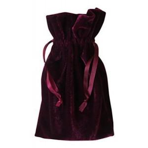 """Paper Mart Tarot and Dice Bag: Wine Velvet Bag (6"""" x 9"""")"""