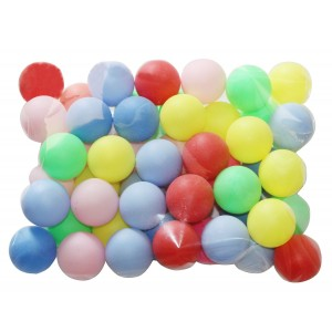 Regail Beer Ping Pong Balls Assorted Color Ball Decoration (50 Pack)