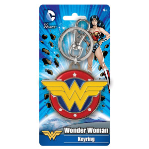 Marvel Wonder Woman Colored Field Pewter Key Ring Action Figure