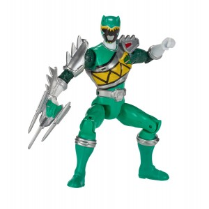 "Power Rangers Dino Super Charge - 5"" Dino Steel Green Ranger Action Figure"