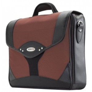 Mobile Edge Select Briefcase- 15.6-Inch PC/17-Inch MacBook Pro (Black/Dr. Pepper)