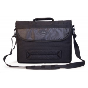 Mobile Edge Eco-Friendly Canvas Messenger Bag for 17.3-Inch (Black)