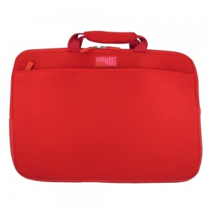 PC Treasures SlipIt! Pro 15.6-Inch Neoprene Case with Zippered Pockets - Red
