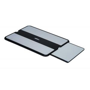 "Aidata LAP0005 LapPad Portable Laptop Desk Black/Gray for Laptops up to 15.6"" Screen Size, Platfo"