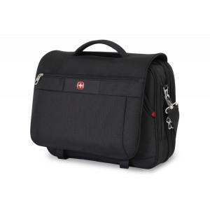 Swiss Gear SwissGear SA8733 15-Inch TSA Messenger Bag for Laptops and Tablets, Black
