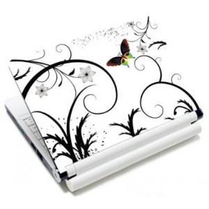 """MySleeveDesign Notebook Skin Protective Decal Laptop Sticker Cover 10.2"""" / 11.6"""" - 12.1"""" / 13.3"""" / 14"""" / 15.6"""" Inch - SEVERAL DESIGNS - Colored Butterfly"""