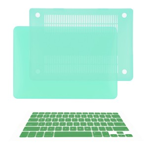 "TOP CASE TopCase Macbook Pro 15"" A1398 with Retina Display 2 in 1 Rubberized GREEN Hard Case Cover and Key"