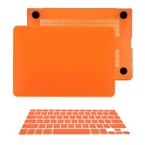 "TOP CASE TopCase 2 in 1 Retina 13-Inch ORANGE Rubberized Hard Case Cover for Apple MacBook Pro 13.3"" with"