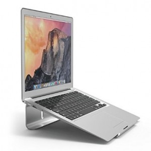 elago L3 Stand [Silver] - [Premium Aluminum][Prevents Bad Posture][Natural Heat Sink] - for Laptop Computers