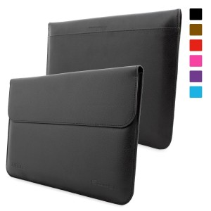 Snugg Microsoft Surface / Surface Pro 1 and 2 Leather Sleeve Case (Black)