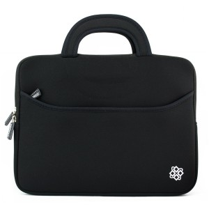 Kozmicc 12-Inch Laptop Sleeve Case with Handle and Pocket, Black (CR-6124B)