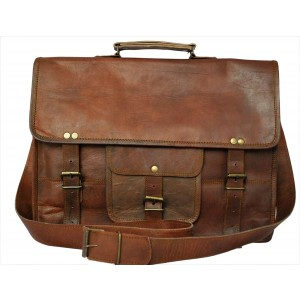 RusticTown Rustic Town Genuine Leather Laptop Bag 15 Leather Messenger Bag
