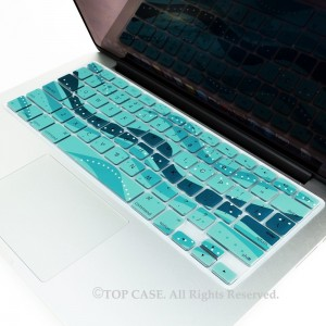 "TOP CASE TopCase Wave Series Silicone Keyboard Cover Skin for Macbook 13"" Unibody / Macbook Pro 13"" 15"""