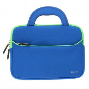 Evecase Acer Aspire Switch 10 SW5 Tablet Laptop Neoprene Sleeve Case, (SW5-012) / (SW5-011) 2-in-1 10.1'' Slim Briefcase w/ Handle and Accessory Pocket / Ultra Portable Travel Carrying Case Sleeve Portfolio Pouch Cover – Blue