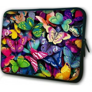 WATERFLY 7 and 7.9 Inches Colorful Butterfly Tablet Sleeve Soft Case Bag Cover Protector for iPad Mini Google Microsoft Surface Samsung Galaxy Tab Acer Asus
