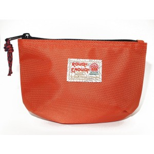 Rough Enough Classic Funny Small Pouch for Macbook, Macbook Air Adaptor, Cables, Small Stuffs, Computer Accessories, Vintage, Funny , Fun and Basic. (Orange)