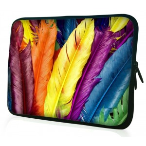 """WATERFLY Colorful Feather Arts 14"""" 14.1"""" 14.4"""" Inch Laptop Notebook Computer Tablet PC Sleeve Carrying Bag Case Pouch Protetor Cover Holder for Asus X401A-RBL4 14"""" Dell XPS 14 ultrabook Dell Inspiron 14z And Most 14"""" 14.1"""" 14.4"""" Inch Laptop Ultrabook Chro"""