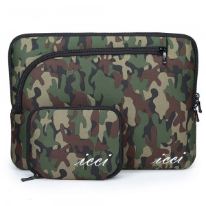 Macbook Pro 15 Sleeve, icci [Shockproof] Macbook Pro 15 inch Sleeve with [Accessories Case] For Ultrabook Laptop Notebook Apple Macbook Pro 15 with Retina - Colour Camo