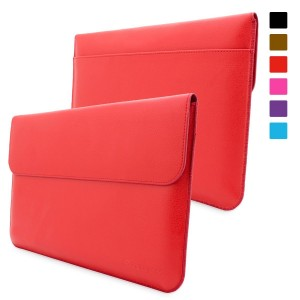 Snugg Leather Sleeve Case for Microsoft Surface Pro 3, 4, Red (Surface-3-red)