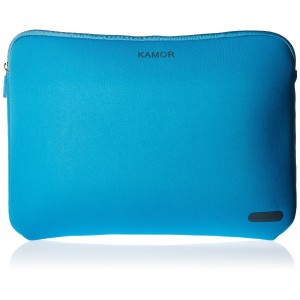 Kamor 15 15.6 16 inch Water-resistant Neoprene Laptop Sleeve Case Bag/Notebook Computer Case/Briefcase Carrying Bag/Skin Cover for Acer/Asus/Dell/Fujitsu/Lenovo/HP/Samsung/Sony/Toshiba(Lake Blue)