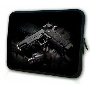 """WATERFLY 12"""" 12.2"""" Inch Guns Pattern Laptop Sleeve Notebook Netbook Bag Briefcase for Lenovo ThinkPad MacBook HP EliteBook Dell Latitude ASUS Microsoft Surface Pro ZenBook Acer Samsung"""